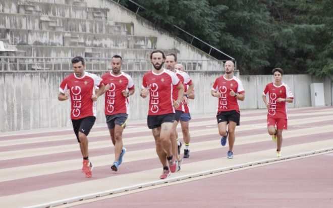 Corredors practicant atletisme